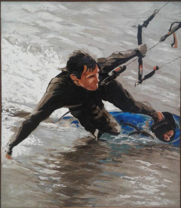 Кайт-серфинг. картина на холсте маслом