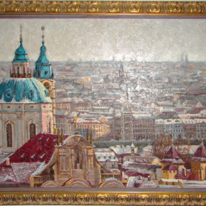 Картина зима в Праге