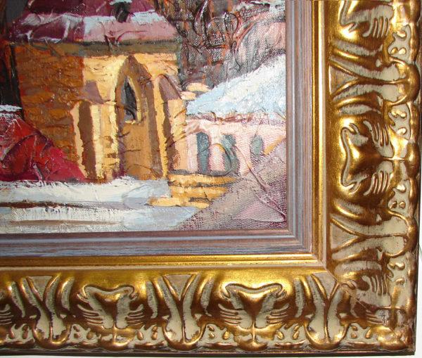 картина Зима в праге фрагмент