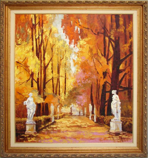 Картина Осень в летнем саду