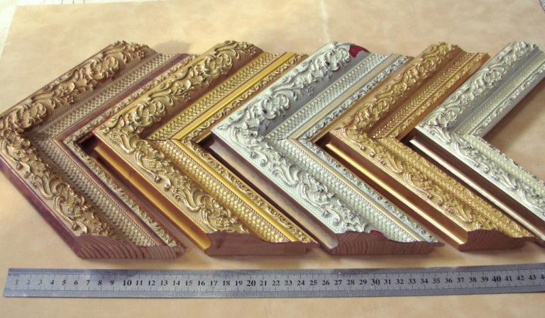 Серия багета дерево серебро золото