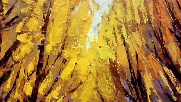 Картина аллея фрагмент