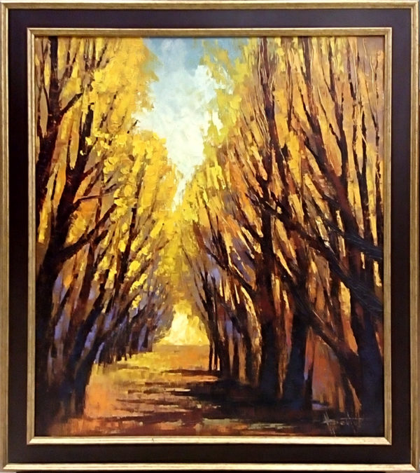 Картина маслом Осенняя аллея