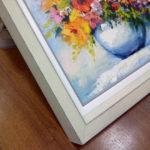Багетна картине с букетом полевых цветов