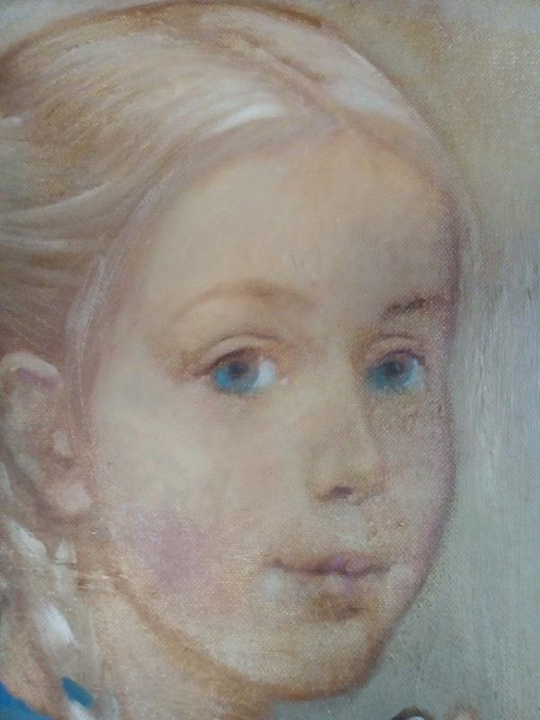 Фрагмент картины девочка