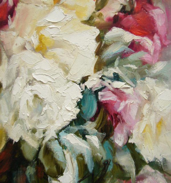 розы живопись масло мастихин