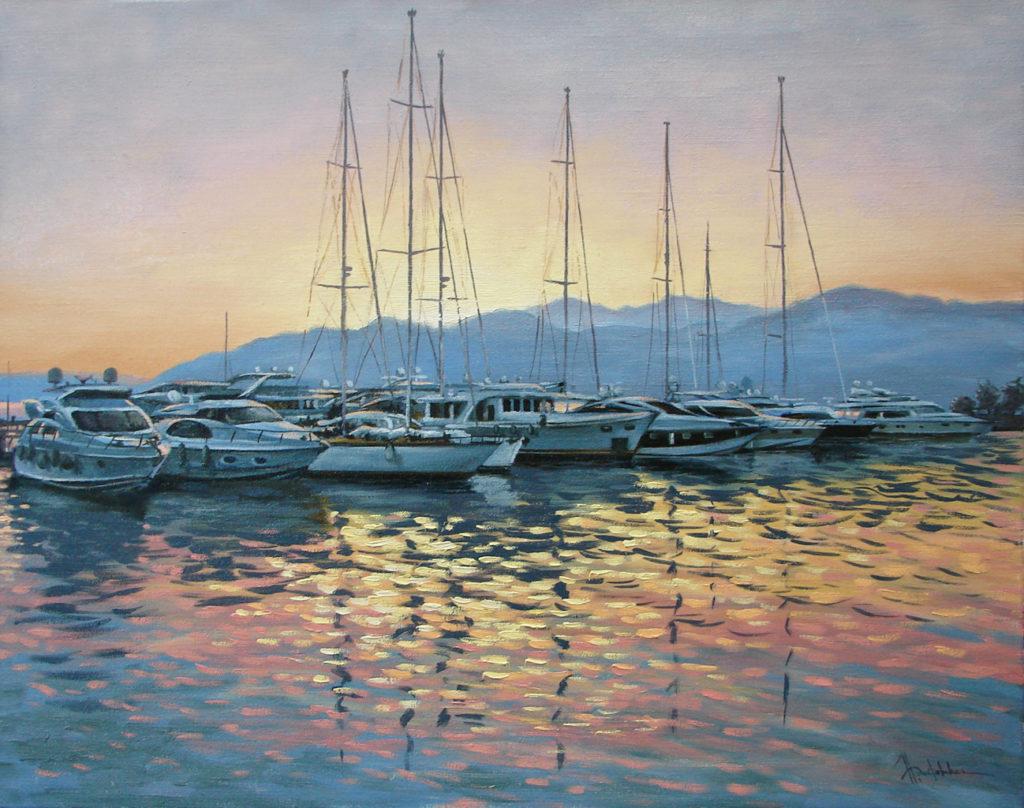 Картина маслом Тольятти яхты