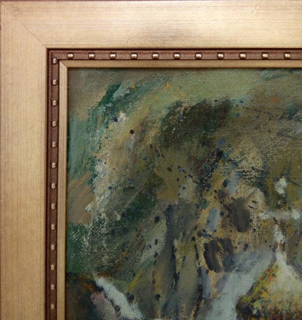 Фрагмент картины с багетом