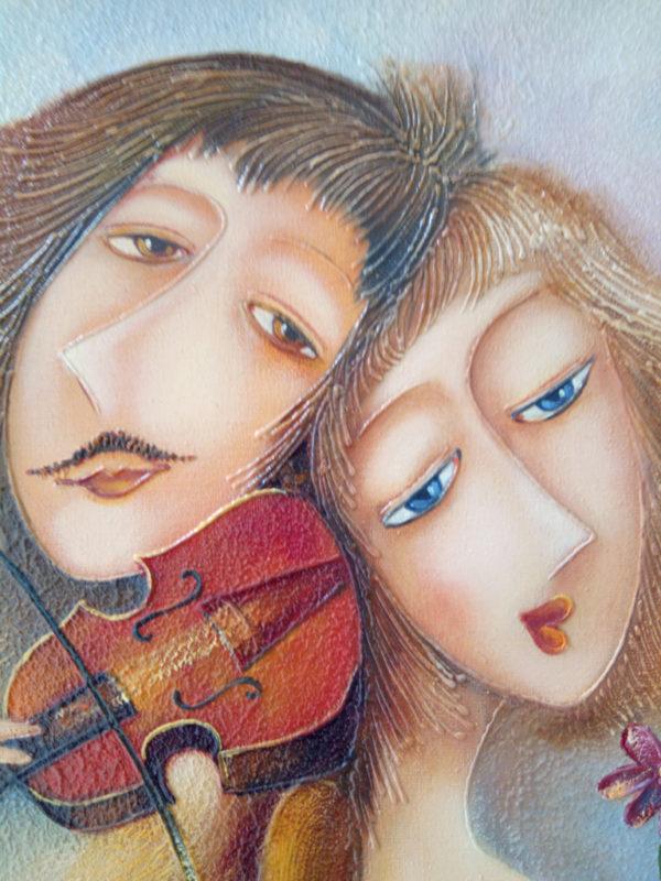 Пара влюбленных картина фрагмент