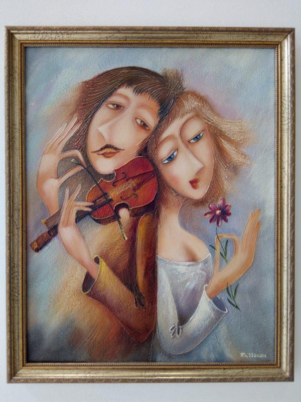 Картина на холсте в раме Тольятти