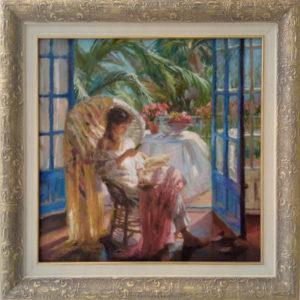 Картина девушка на террасе Тольятти