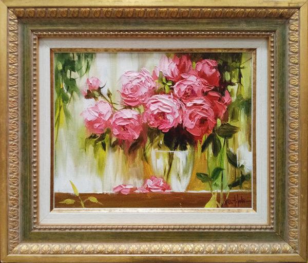 Розы на веранде картина маслом