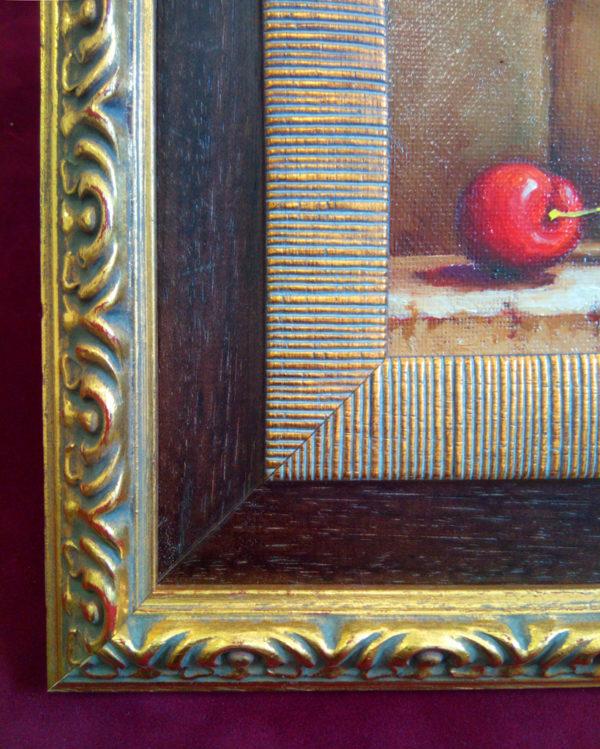 Багет на картине дерево багетная мастерская меандр Тольятти