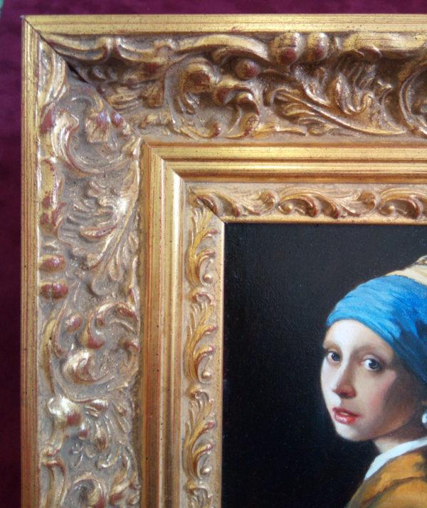 Багет на картине девушка с жемчужной серьгой