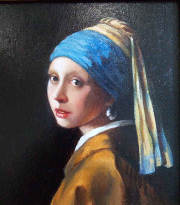 Девушка с жемчужной серьгой фрагмент
