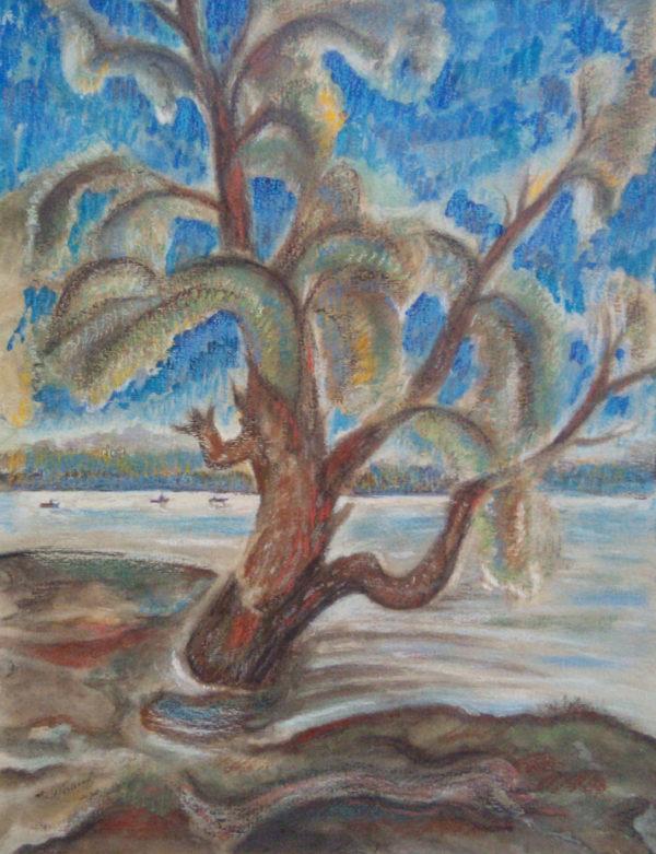 Пастель волжский пейзаж