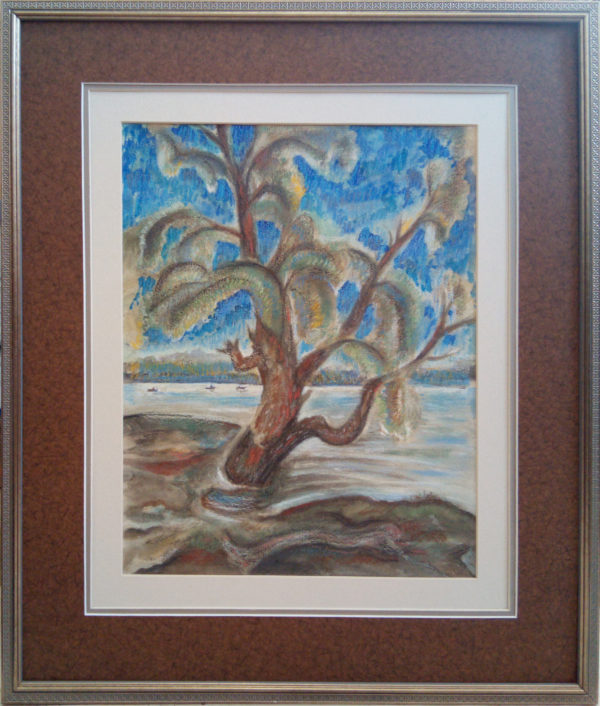 Пастель дерево