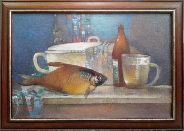 Картина написанная маслом на холсте