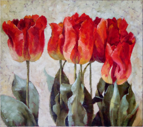 Картина красные тюльпаны