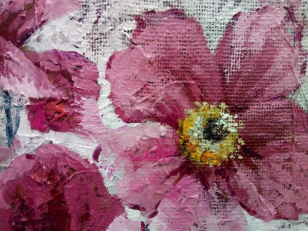 Декоративные цветы картина маслом маки