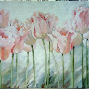 Тюльпаны картина маслом на холсте