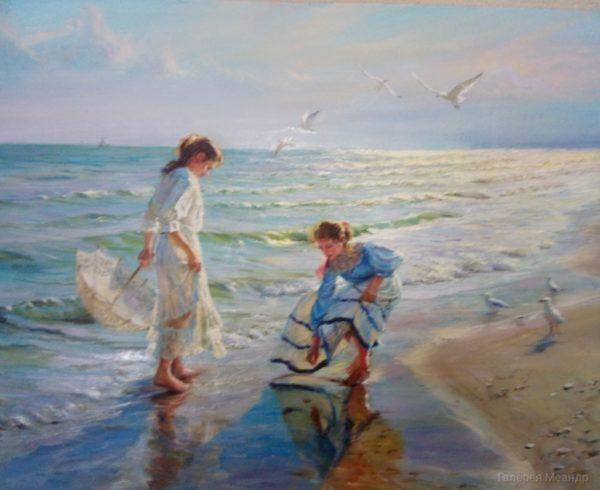 Пейзаж романтический на берегу моря
