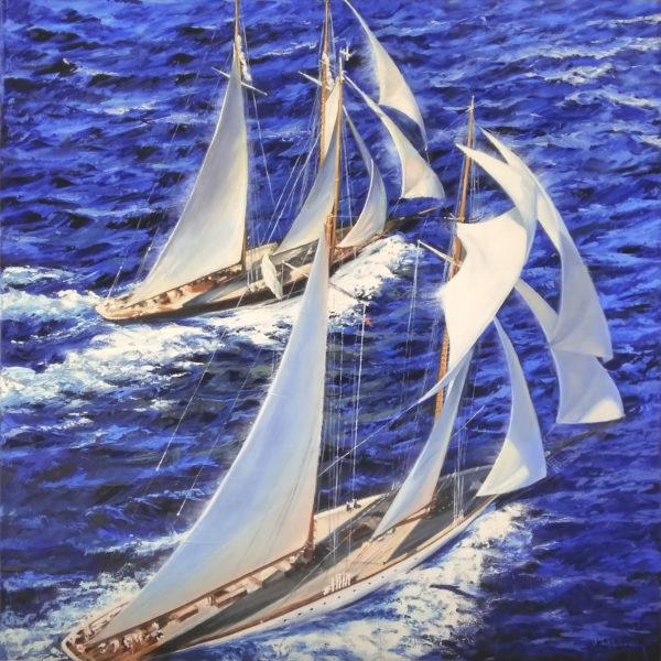 картина яхты