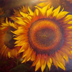 Картина подсолнухи крупны цветок