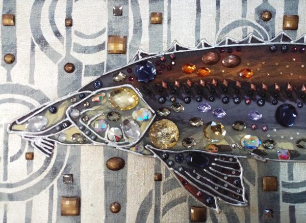 Рыба осетр декоративное панно
