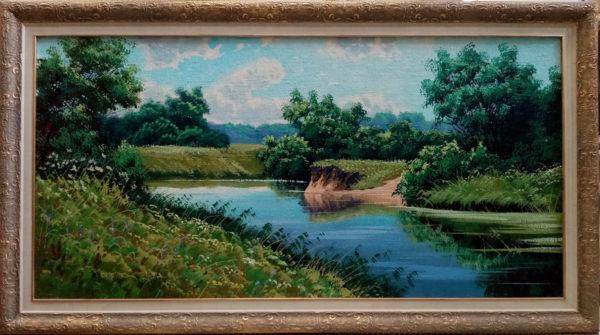 Картина масляными красками в раме