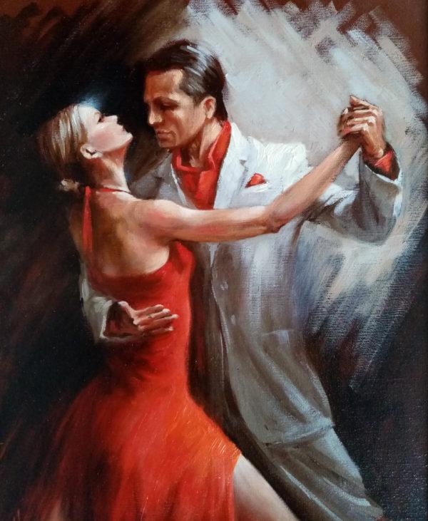 Картина масляными красками на холсте танец танго
