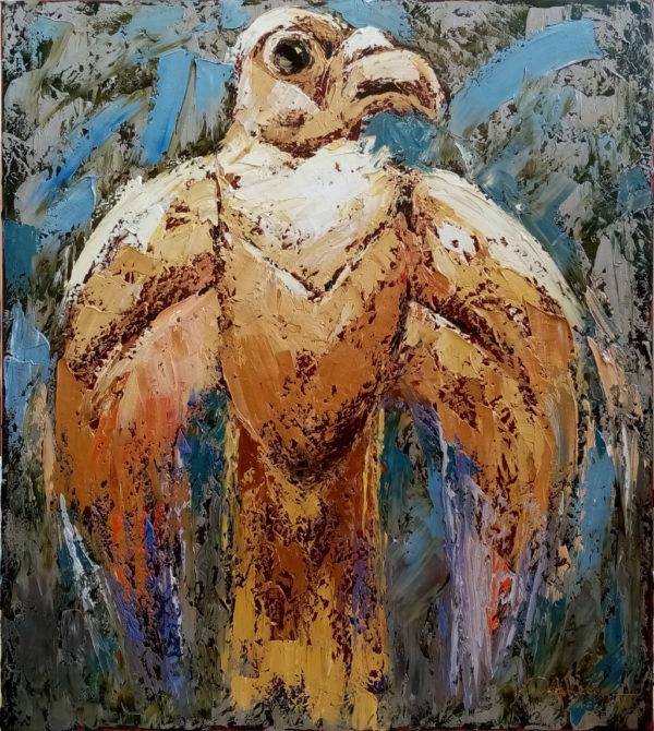Картина масляными красками Сокол