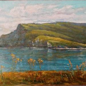 Картина маслом Волжский пейзаж