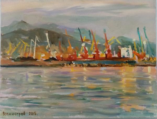 Картина маслом порт