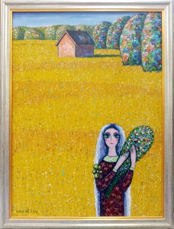Картина на холсте масляными красками в раме
